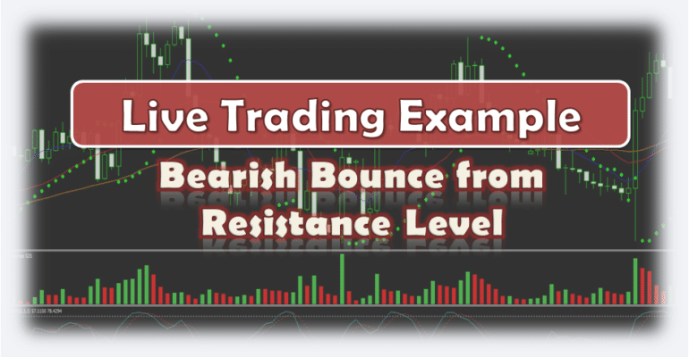Bearish Bounce from Resistance Level - Live Forex Trading Example