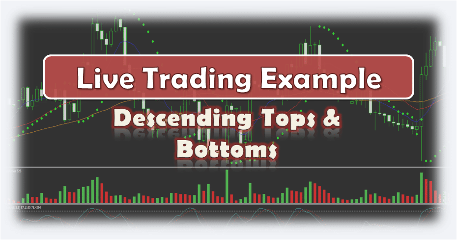 Descending Tops and Bottoms - Live Forex Trading Example