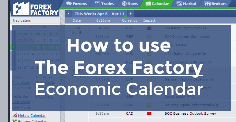 How to use Forex Factory