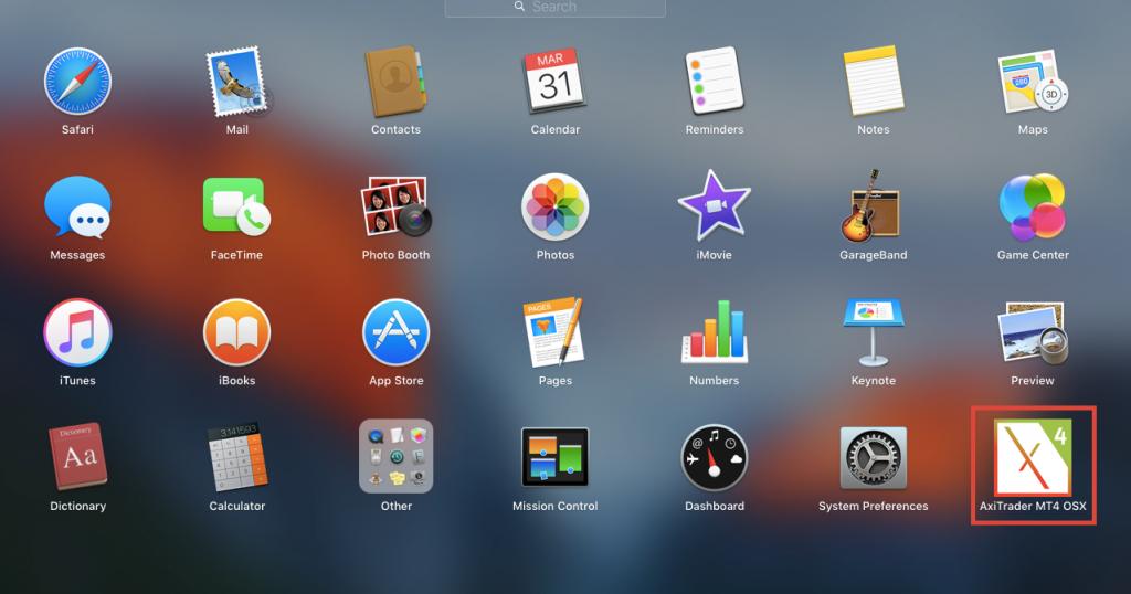 axitrader in mac desktop