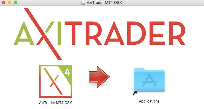drag axitrader installation to mac applications