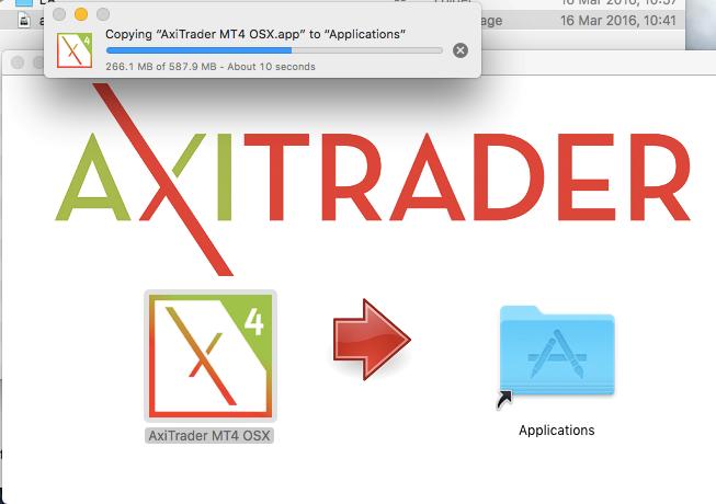 copying axitrader to mac applications folder