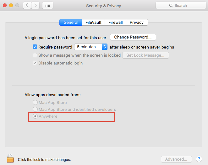 macOS privacy and security settings details